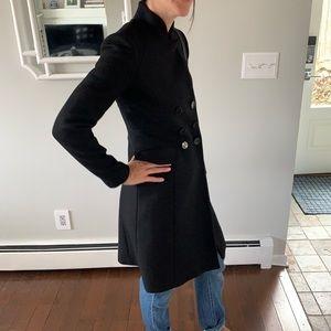 Zara Black Peacoat XS